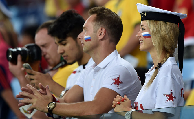 беспроигрышный фото болельщиков с матча россия корея нарисуйте две