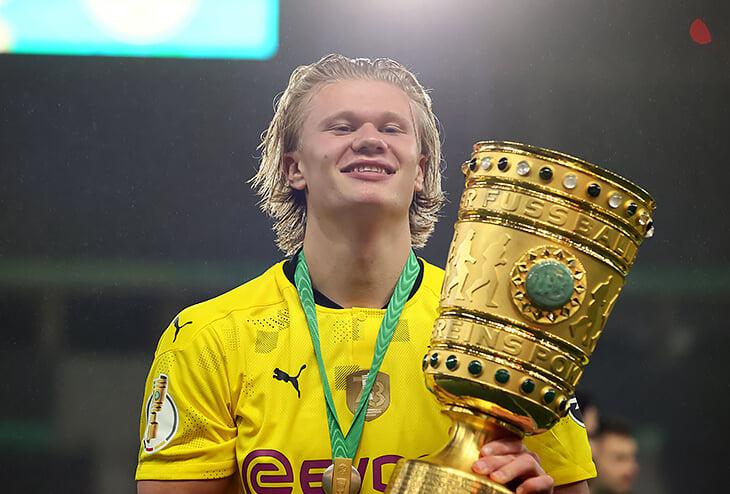Холанд и Санчо разорвали «Лейпциг» в финале Кубка (4:1). Нагельсманн уходит в «Баварию» без трофеев