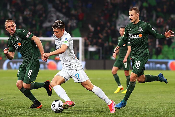 4 замены (включая Дзюбу), ошибка Сафонова и тончайший пас Дугласа: «Зенит» вернулся в игру в Краснодаре после 0:2