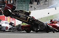 происшествия, Гран-при Испании, Гран-при США, Гран-при Франции, Гран-при Великобритании, Гран-при Японии, Гран-при Бразилии, Лотус, GP2, Гран-при Сингапура, видео, Ромен Грожан, Формула-1, Гран-при Мексики, Рено, Хаас, Гран-при Азербайджана