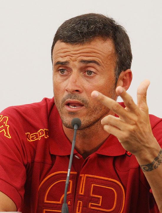 10 лет назад Луис Энрике строил в Риме «Барселону». «Рома» даже не попала в еврокубки, но Тотти плакал при расставании