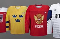 Сборная Южной Кореи по хоккею, олимпийский хоккейный турнир, Сборная США по хоккею, Сборная Канады по хоккею, игровая форма, фото, Пхенчхан-2018, Сборная России по хоккею