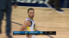 Stephen Curry sinks the shot at the buzzer