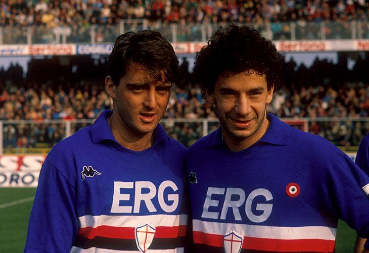 Манчини и Виалли дружат больше 40 лет – сделали «Сампдорию» чемпионом, а теперь вместе рулят сборной. Вот их история
