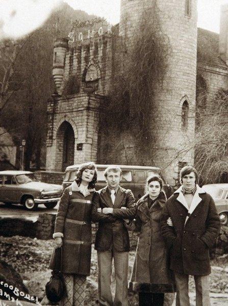 Ловчев с первой женой Татьяной, Владимиром Федотовым и его женой