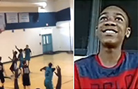 Баскетболист без рук творит чудеса