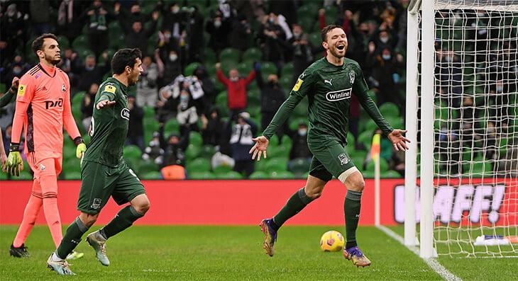 «Краснодар» уничтожил «Локомотив» 5:0: могли забить больше, Городов в день рождения отбил пенальти от Миранчука