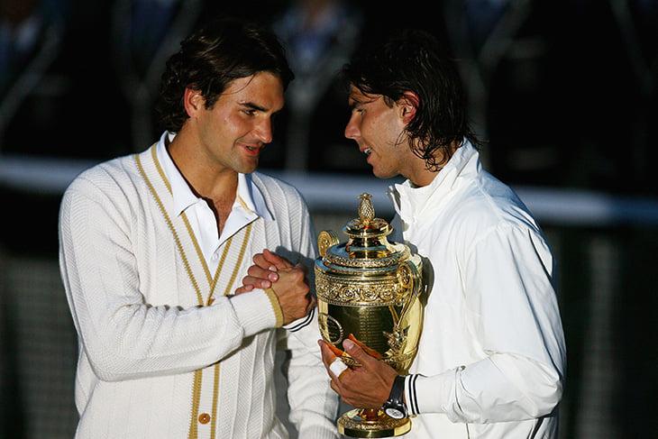 Федерер и Надаль сойдутся на «Уимблдоне» впервые с великого финала-2008. Рафа даже на траве фаворит