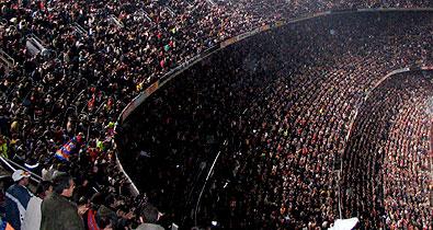 20 самых посещаемых стадионов мира