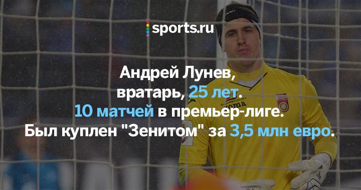 Вратарь Андрей Лунёв официально стал игроком «Зенита»