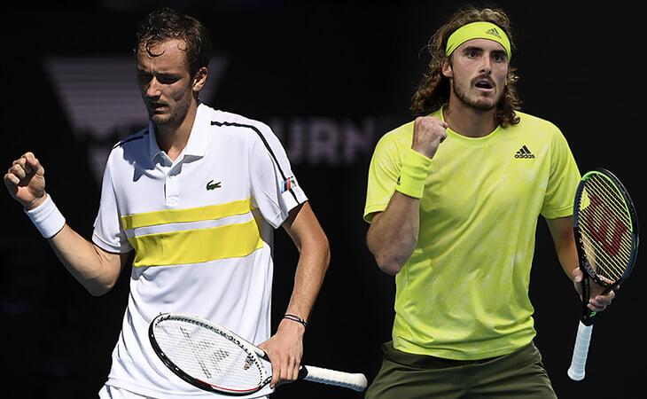 Медведев против Циципаса в полуфинале Australian Open. Онлайн