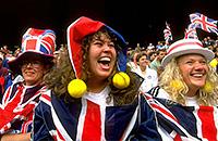 Уимблдон, фото, болельщики, Nike, Ястреб Руфус, Елизавета Вторая, Герцогиня Кембриджская Кэтрин