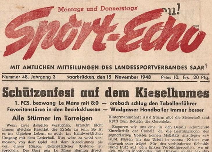 После войны немецкая команда стала лучшей во французской Лиге 2. Дальше клуб не пустили, и он основал еврокубок