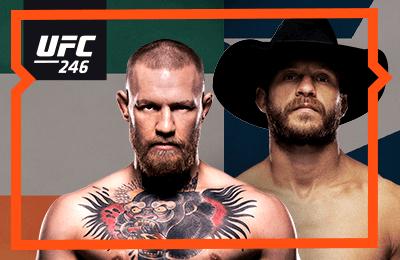 Конор Макгрегор в топовой форме против ковбоя Серроне. Официальная трансляция UFC 246 на Wink