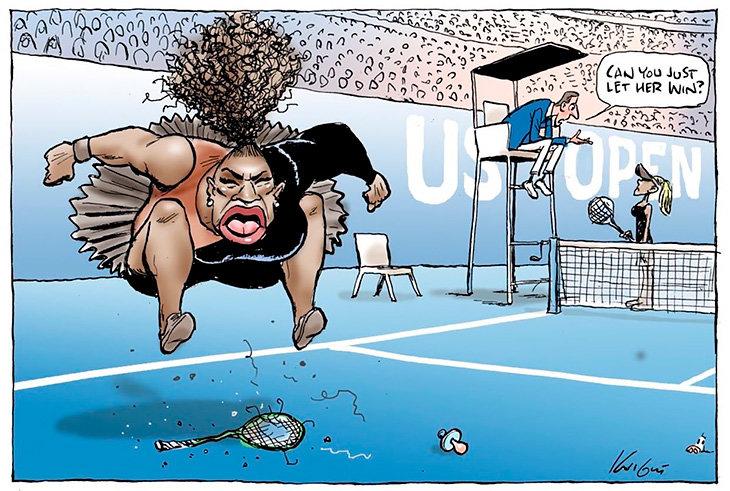 Карикатура наСерену Уильямс вызвала скандал (6)— Капризное дитя
