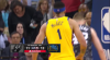 JaVale McGee rattles the rim on the finish!