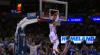 Russell Westbrook flies in for the alley-oop slam