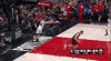 Jake Layman goes up to get it and finishes the oop