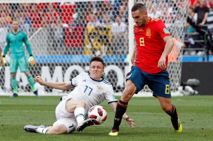 Кто выиграл вчера в футбол россия или испания