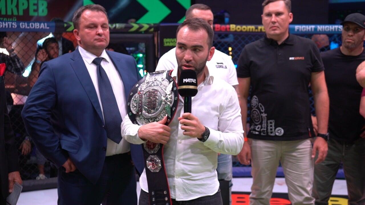 Чемпионский бой Бикрева и Амирова закончился судейским скандалом. То ли запрещенный удар, то ли нокаут, то ли ошибка рефери
