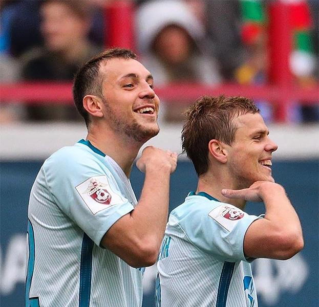 Кокорин иДзюба «показали усы» после проигрыша сборной Российской Федерации наКубке