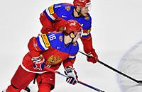 Россия играет со Словакией