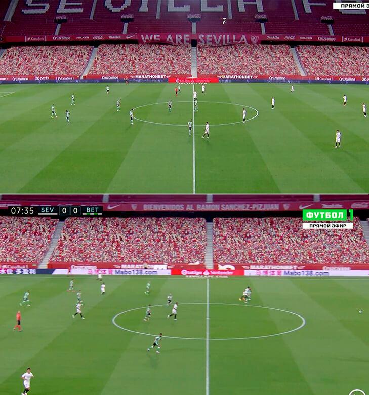 Ла Лига заполнила трибуны виртуальными фанатами (и включила интершум)