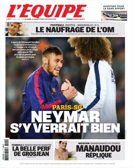 L'Equipe: ПСЖ готов заплатить Барселоне за Неймара 193 млн евро
