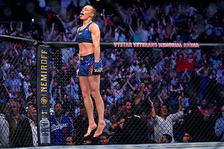 Чемпионка UFC Роуз Намаюнас не всегда была лысой. В 2015-м она постриглась, чтобы бои девушек не называли конкурсом красоты