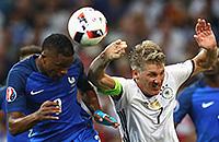 Евро-2016, судьи, сборная Франции, сборная Германии, Бастиан Швайнштайгер