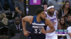 Karl-Anthony Towns rattles the rim on the finish!