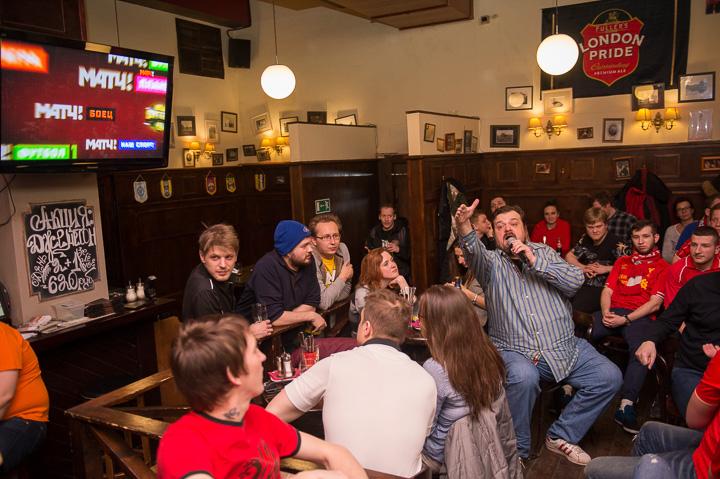Английский футбол в баре
