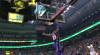 LeBron James rocks the rim
