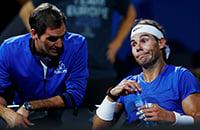 Федерер и Надаль впервые стали тренерами друг для друга. Послушайте, как они убедительны