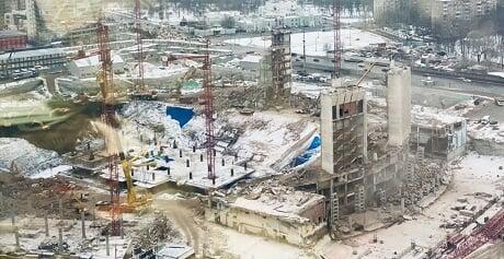 В Москве в ходе реконструкции полностью снесли здание спорткомплекса «Олимпийский» - Легкая атлетика