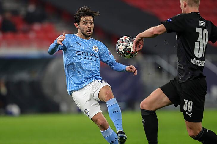 «Гладбах» сдержал атаку Пепа, но игра «Сити» без мяча – мощь. Бонусом стал Бернарду – он сыграл как Гюндоган