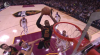LeBron James rocks the rim