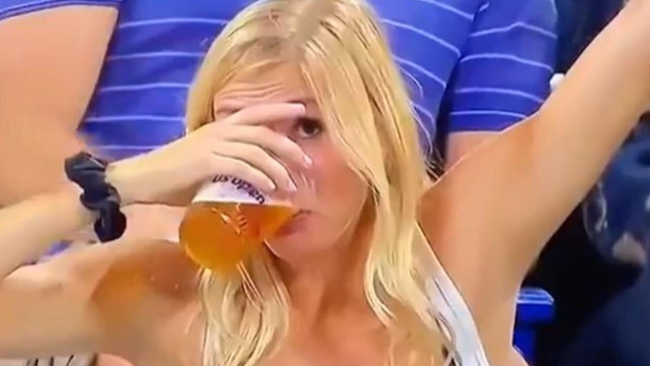 Девушка с пивом стала звездой US Open. Хотя у турнира есть коронный коктейль с мячиками из дыни