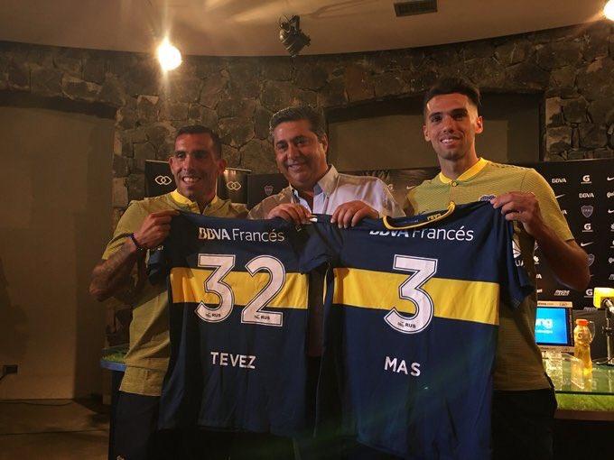 «Бока Хуниорс» представил Тевеса изащитника сборной Аргентины Маса