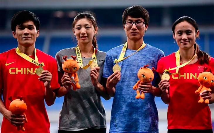 Тонг Цзенхуан, Ляо Менсюэ, сборная Китая жен, сборная Китая, World Athletics (IAAF), бег