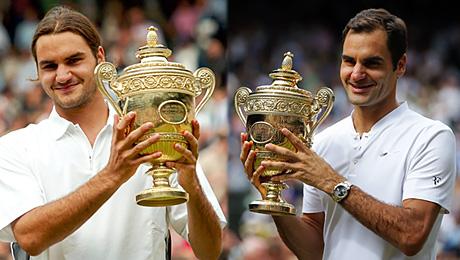 Федерер после первой победы на «Уимблдоне» и после восьмой