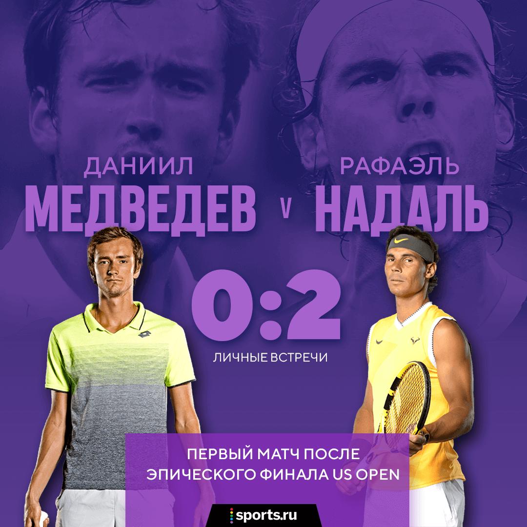 Медведев упустил матчбол при 5:1 с Надалем, посыпался и проиграл. Драма на итоговом