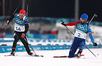Самый эпичный финиш Олимпиады: Фуркад и Шемп в шпагате
