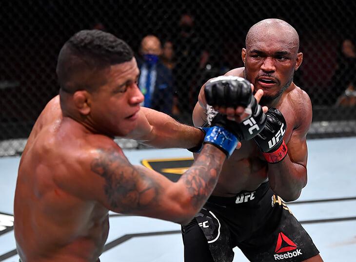 Очень эмоциональный титульник UFC между друзьями: Усман нокаутировал Бернса, сел перед ним на колени и прослезился