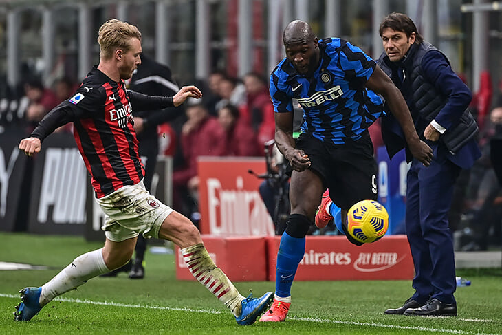 «Интер»мчит к чемпионству: прибили «Милан» в дерби благодаря суперсэйвам Хандановича (три за минуту!) и связке Лукаку-Лаутаро