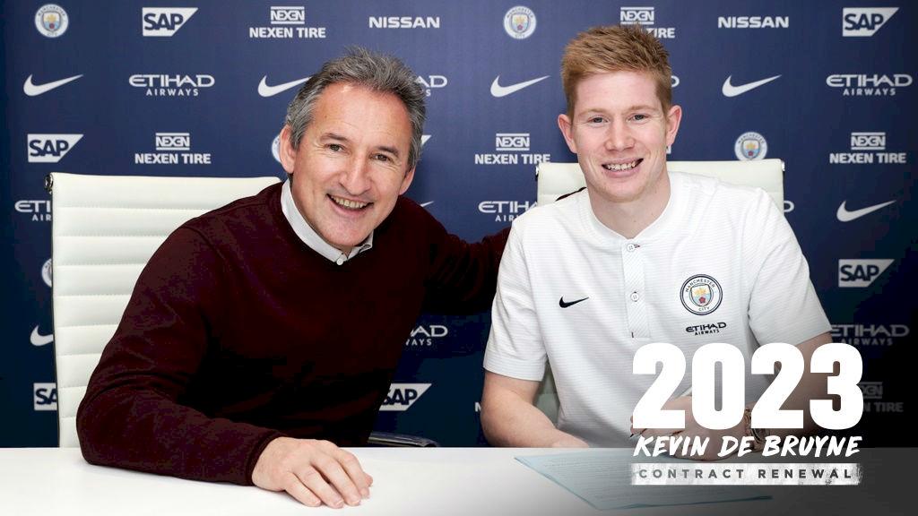 Кевин ДеБрюйне продлил договор с«Манчестер Сити» до 2023-го года