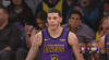 Lonzo Ball with one of the day's best assists