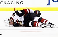НХЛ, Александр Бурмистров, травмы, видео, Бостон, Колин Миллер, Аризона