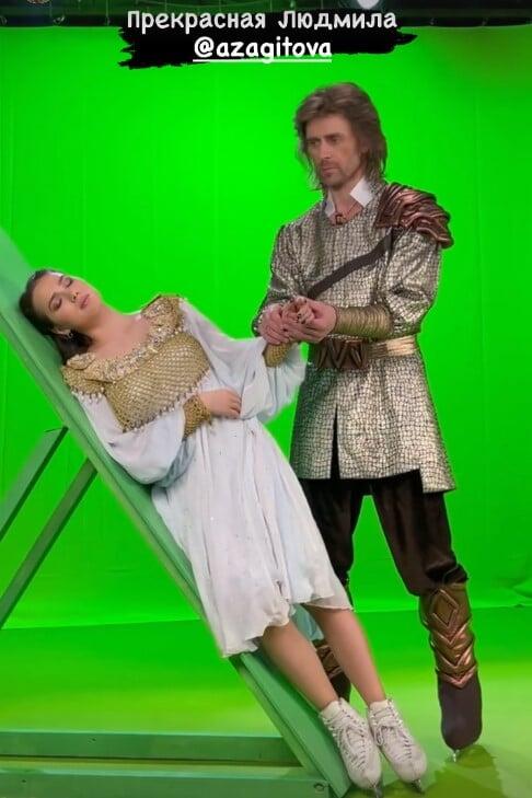 Навка показала съемки сцен для мюзикла Руслан и Людмила с участием Загитовой