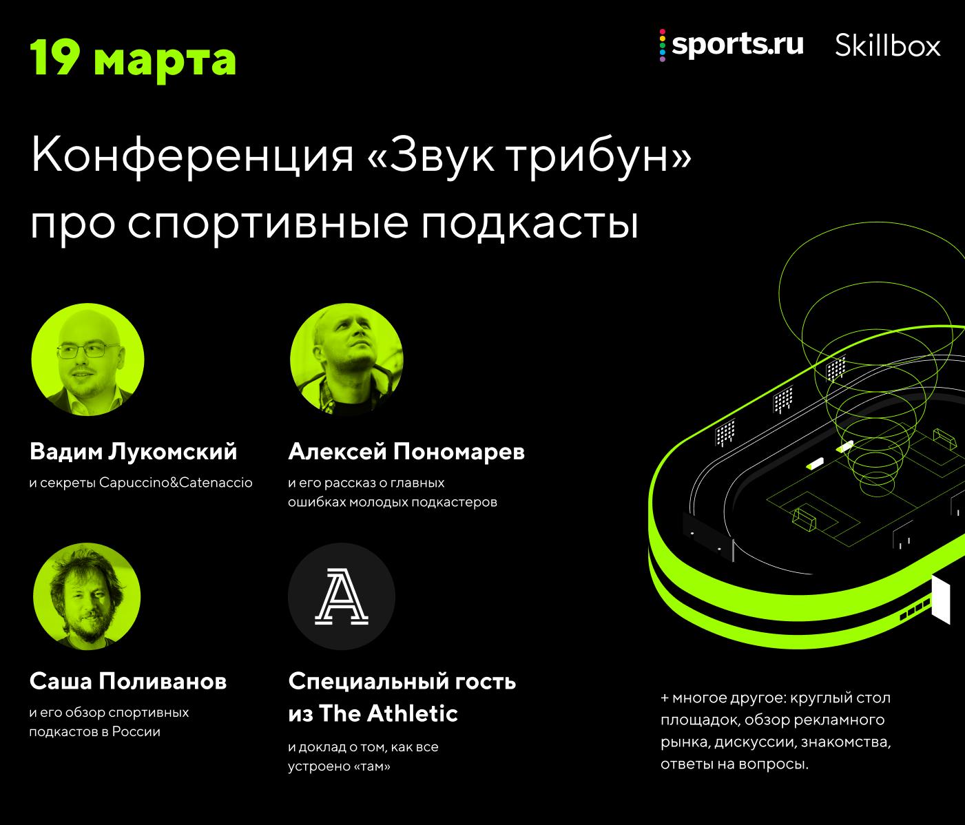 Sports.ru проведет первую спортивную подкаст-конференцию. Присоединяйтесь, принять участие совсем просто (это бесплатно)